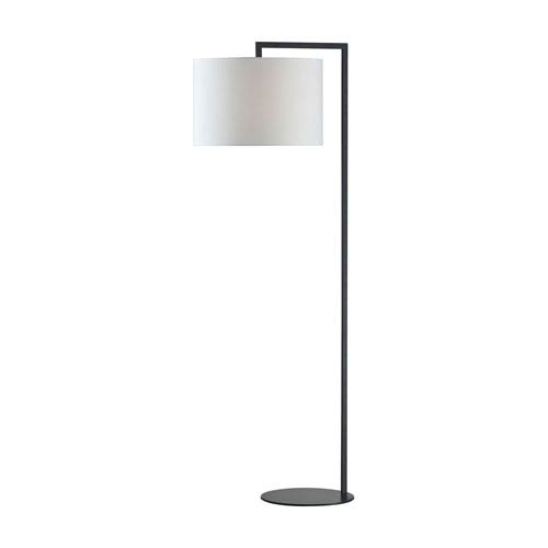 Matte Black 59-Inch LED Floor Lamp