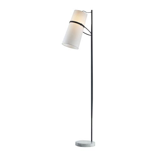 Matte Black 70-Inch LED Floor Lamp