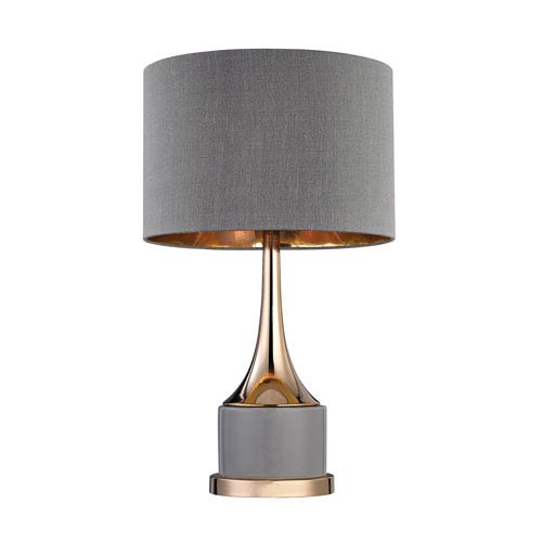Cone Grey and Gold One-Light 11-Inch Table Lamp
