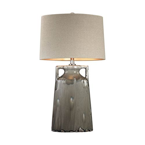 Reaction Grey Glaze One-Light Table Lamp