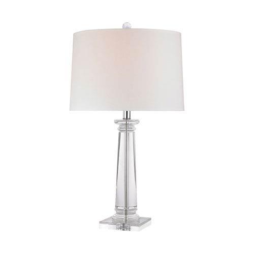 Crystal column table lamp bellacor dimond classical column clear crystal one light table lamp aloadofball Choice Image
