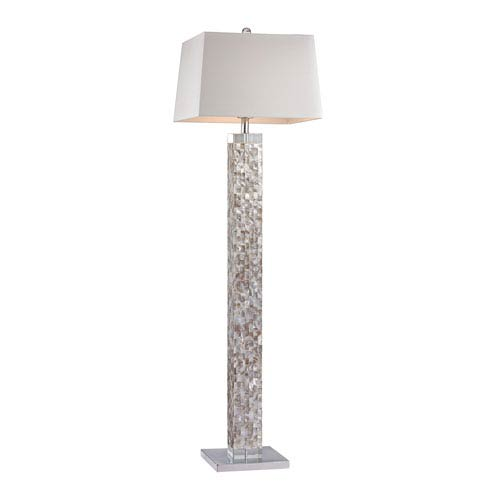 Mother Of Pearl Mother Of Pearl Shell One-Light Floor Lamp