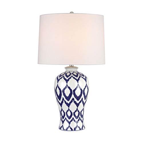 Kew Blue And White Glaze LED Table Lamp