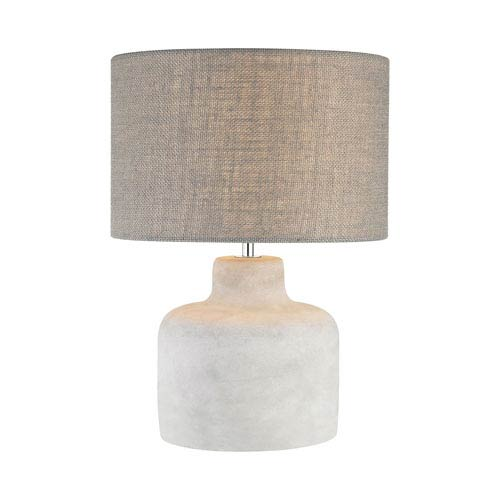 Genial Dimond Rockport Polished Concrete One Light 12 Inch Table Lamp