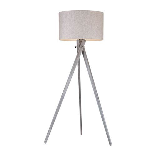 Whistler Black Ash One-Light Floor Lamp