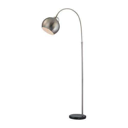 Nolita Brushed Nickel and Black One-Light Floor Lamp