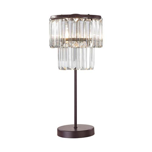 Antoinette Bronze and Clear One-Light Table Lamp