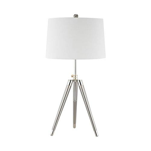 Dimond Academy Satin Nickel Polished Chrome One-Light Table Lamp