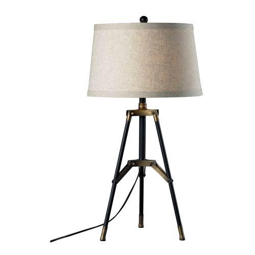 Dimond Restoration Black 30-Inch Functional Tripod Table Lamp