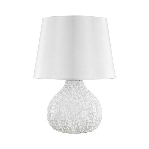 Dimond Aruba White One-Light Outdoor Table Lamp with Pure White Shade
