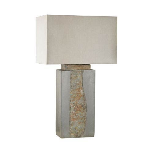 Dimond Musée  Grey and Natural Slate One-Light Outdoor Table Lamp