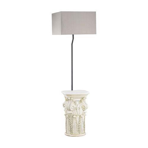 Patras Antique White LED Outdoor Floor Lamp