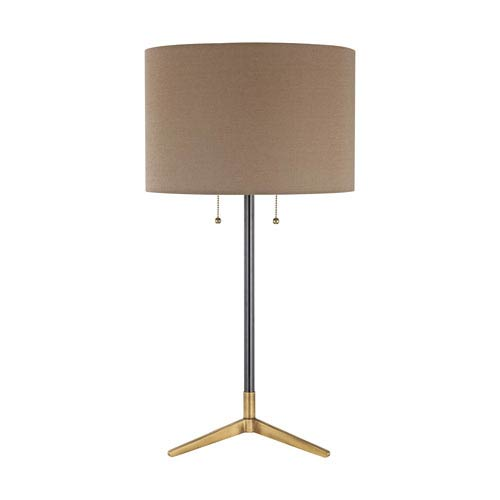 Clubhouse Black Antique Brass LED Table Lamp