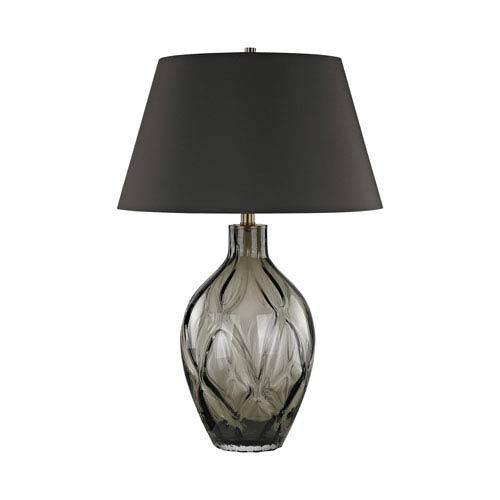 Dimond Saga Chocolate Smoke One-Light Table Lamp