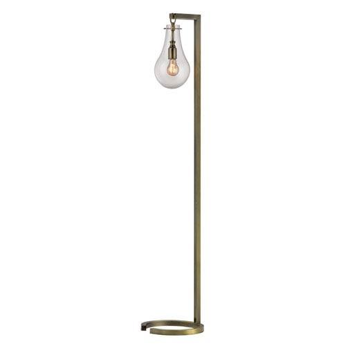 Antique Brass 60-Inch Metal Floor Lamp