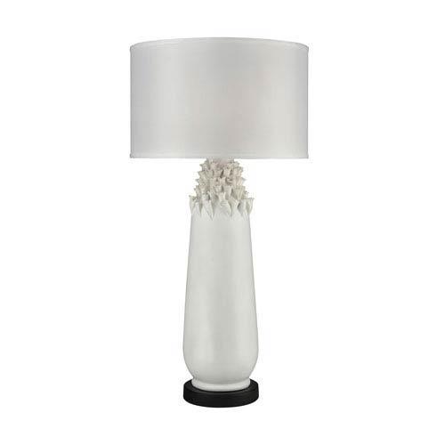 Dimond Calla Semi Gloss White One-Light Outdoor Table Lamp