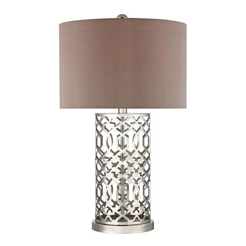 Laser Cut Polished Nickel LED Table Lamp