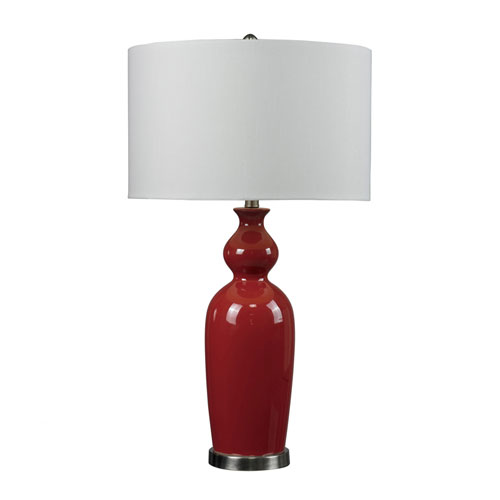 Dimond HGTV HOME Red Table Lamp