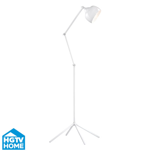 Dimond HGTV HOME Amesbury White 59-Inch One Light Floor Lamp