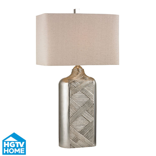 Dimond HGTV HOME Chestnutt Silver Leaf One Light Table Lamp