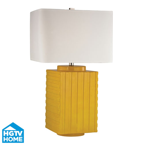 Dimond HGTV HOME Booker Yellow 28-Inch One Light Table Lamp