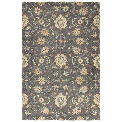Helena Collection Hera Pewter Rectangular: 8 Ft. x 10 Ft. Rug
