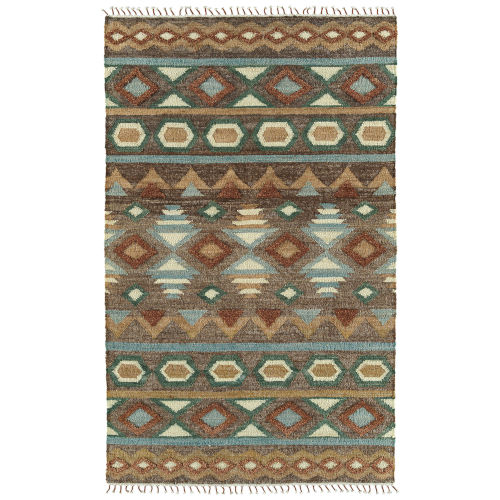 Alejandra Brown and Blue 2 Ft. x 3 Ft. Throw Rug
