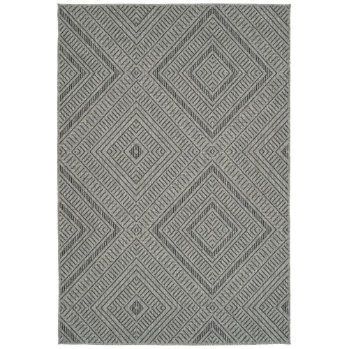 Bacalar Charcoal Rectangular: 5 Ft.3 In. x 7 Ft.6 In. Rug