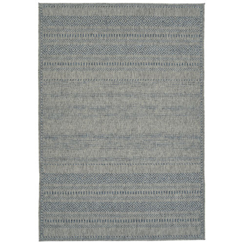 Bacalar Blue Wave Rectangular: 4 Ft. x 6 Ft. Rug