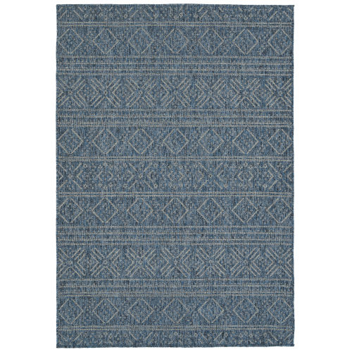 Bacalar Dark Blue Indoor/Outdoor Rug