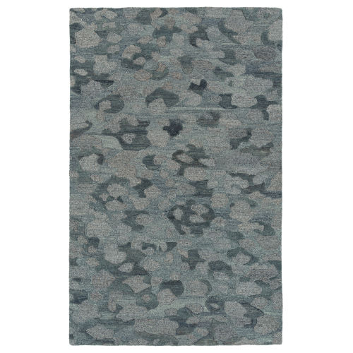 Calvin Blue and Gray 5 Ft. x 7 Ft. 9 In. Area Rug