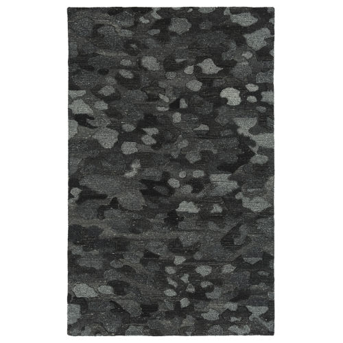 Calvin Charcoal and Gray 5 Ft. x 7 Ft. 9 In. Area Rug