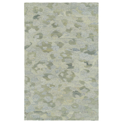 Calvin Light Blue and Yellow 5 Ft. x 7 Ft. 9 In. Area Rug