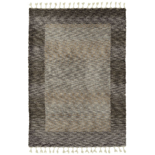 Duna Brown and Gray 2 Ft. 6 In. x 7 Ft. 6 In. Runner Rug