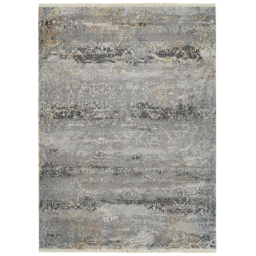 Eddison Gray and Black 3 Ft. 11 In. x 5 Ft. 3 In. Area Rug