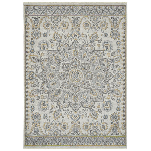 Eddison Silver and Ivory 7 Ft.10 In. x 10 Ft. Area Rug