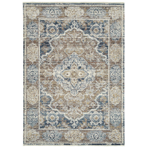 Eddison Navy and Rust 7 Ft.10 In. x 10 Ft. Area Rug