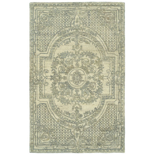 Effete Ivory and Olive 5 Ft. 6 In. x 8 Ft. 6 In. Area Rug