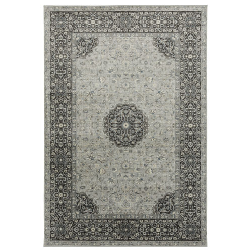 Easton Silver and Gray 2 Ft. 3 In. x 8 Ft. Runner Rug