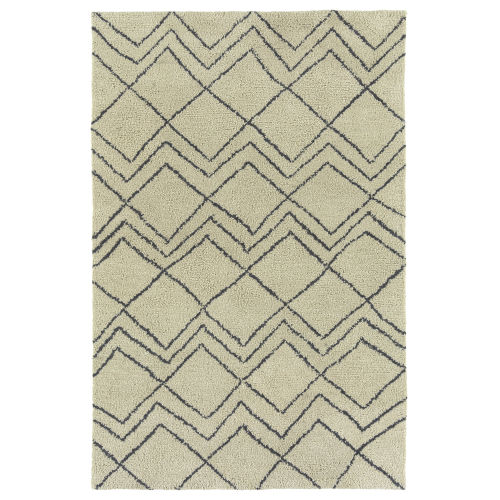 Micha Ivory and Graphite 9 Ft. 6 In. x 13 Ft. Area Rug