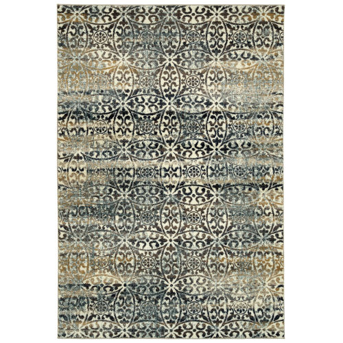 Memphis Charcoal and Sand 3 Ft. 11 In. x 5 Ft. 7 In. Area Rug