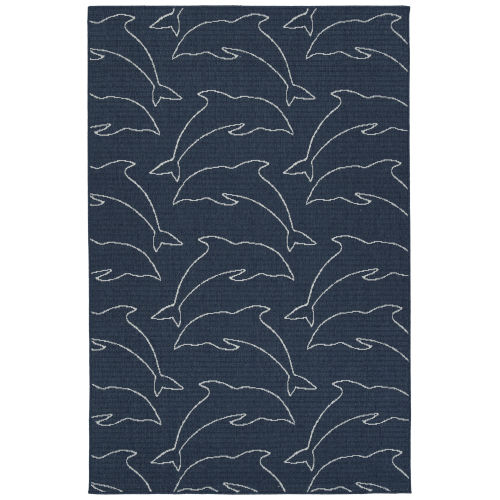 Puerto Navy String Rectangular: 5 Ft. x 7 Ft.6 In. Rug