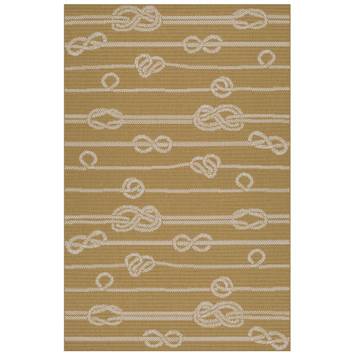 Puerto Yellow Wave Rectangular: 5 Ft. x 7 Ft.6 In. Rug