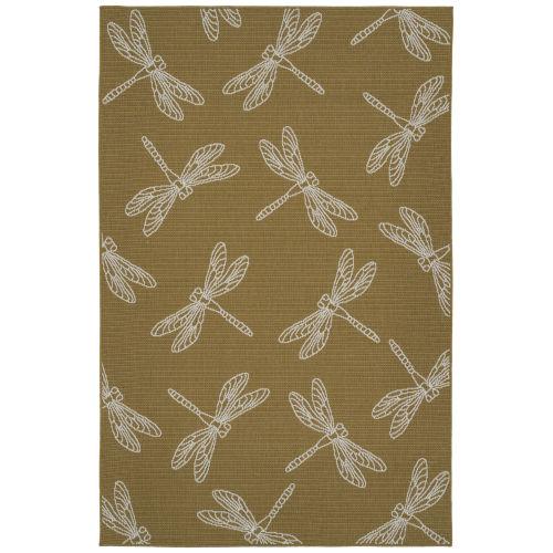 Dragonfly Yellow Indoor/Outdoor Rug
