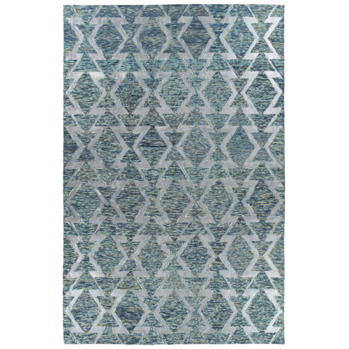 Radiance Blue and Silver 8 Ft. x 10 Ft. Area Rug