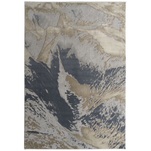 Global Altitude Blue and Beige 3 Ft. 11 In. x 5 Ft. 3 In. Area Rug