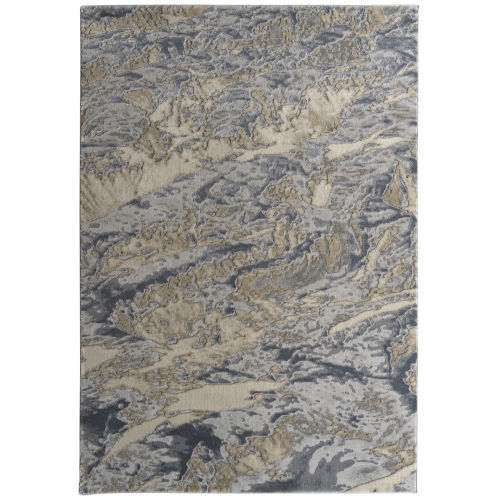 Global Altitude Gray and Beige 2 Ft. 2 In. x 7 Ft. 6 In. Runner Rug