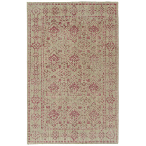 Knotted Earth Pink and Cream Area Rug