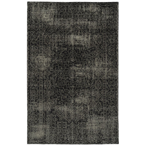 Knotted Earth Black and Ivory 4 Ft. x 6 Ft. Area Rug