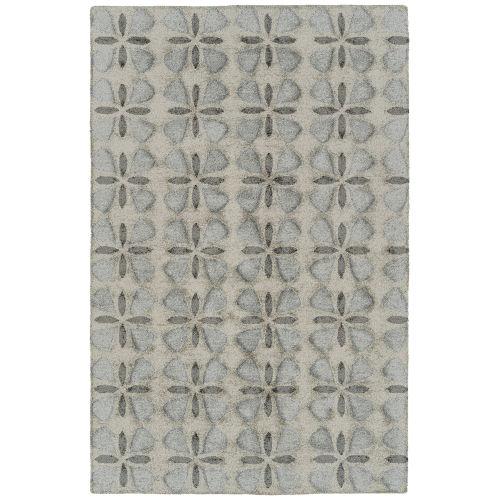Peranakan Tile Gray and Silver Indoor/Outdoor Rug